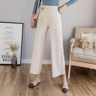 Korean Wide leg Ninth Pants Paige Women Clothing Thin, high waisted, versatile and loose