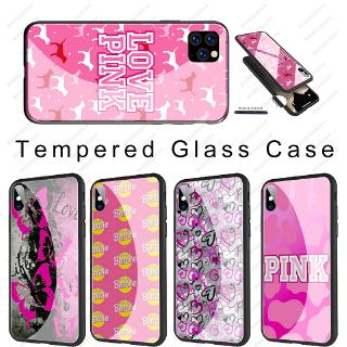iphone 11 Pro Max Soft TPU Tempered Glass Case PINK Lovely