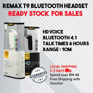 T9 Remax Bluetooth Headset Original clear HD voice