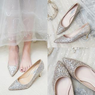 shoes women low heel pregnant women bridal shoes 2019