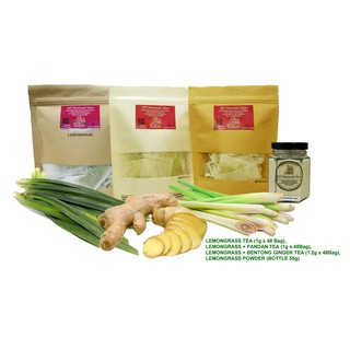 Homemade Lemongrass Powder or Lemongrass/ginger/bentong ginger/pandan Tea