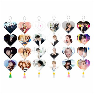 1Pcs New Kpop BTS TWICE BLACKPINK GOT7 Paper Flag Poster HD Hang up Heart Shaped Photo Cards Photo