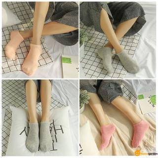 【HOT】 Cotton Female Socks Solid Color Ladies Short Socks Candy Color Invisible Shallow Mouth Female