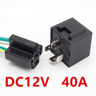 DC12V 40A Automotive Motorcycle Flasher Relay Socket 40 Amp Relay & Wires