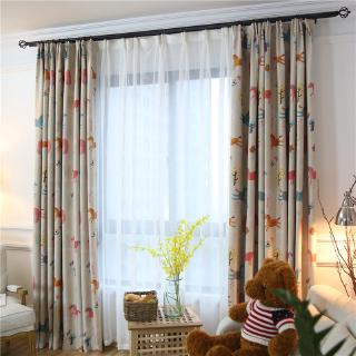 "GyrohomeGYC2329B 1PC Rainbow Forest Langsir Ring HookRoom HighBlackout Curtain DrapeWindow ""Customise"" Home"