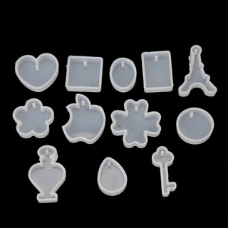✿INF✿12pcsSilicone Resin DIY Mold Handmade Earrings