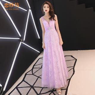 dress female 2019 new korean version of the long sexy deep v dress