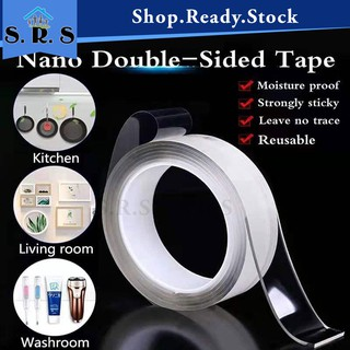 Multifunctional Strongly Sticky Double-Sided Adhesive Nano Tape Traceless Washable Removable Tapes Indoor Outdoor Gel