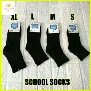 SCHOOL SOCKS BLACK CHILDREN STOKING HITAM SEKOLAH READY STOCK