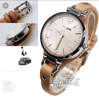 (Shocking fossil) Ladies women 2018 watch leather strap analog function