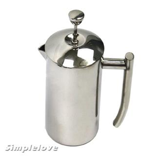 600ml Stainless Steel French Press, Espresso Coffee Maker, Coffee Tea Pot