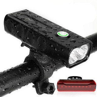 Bicycle Headlight, USB Rechargeable 1000 Lumen LED Bike Front Light High Bright 6 Hours Mountain Road Cycling