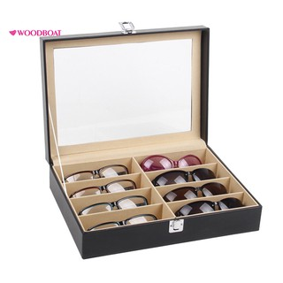 woodboat 8-Grid Eye Glasses Eyewear Sunglasses Display Storage Box