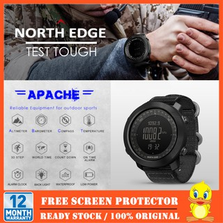 NORTH EDGE Men's Sport Digital Watch Running Swimming Military Army Watches Altimeter Barometer Compass Waterproof 50M