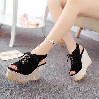 9 Heel Sandal Cm Shoes Fashion Outdoor Casual Sexy Woman Wedges New