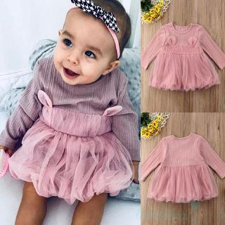 ღUSA Pink Toddler Newborn Kids Baby Girl Tulle Tutu Princess Party Dress