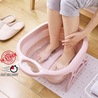 Foldable Foot Bucket Bubble Wet Foot Spa Bath Massage Relaxing Soothing