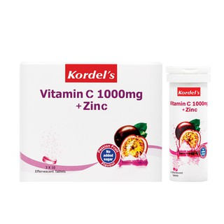Kordel's Vitamin C 1000mg + Zinc Passion Fruit 4x10s FOC Ezy-Lock (Exp Feb/2020) (100% AUTHENTIC)