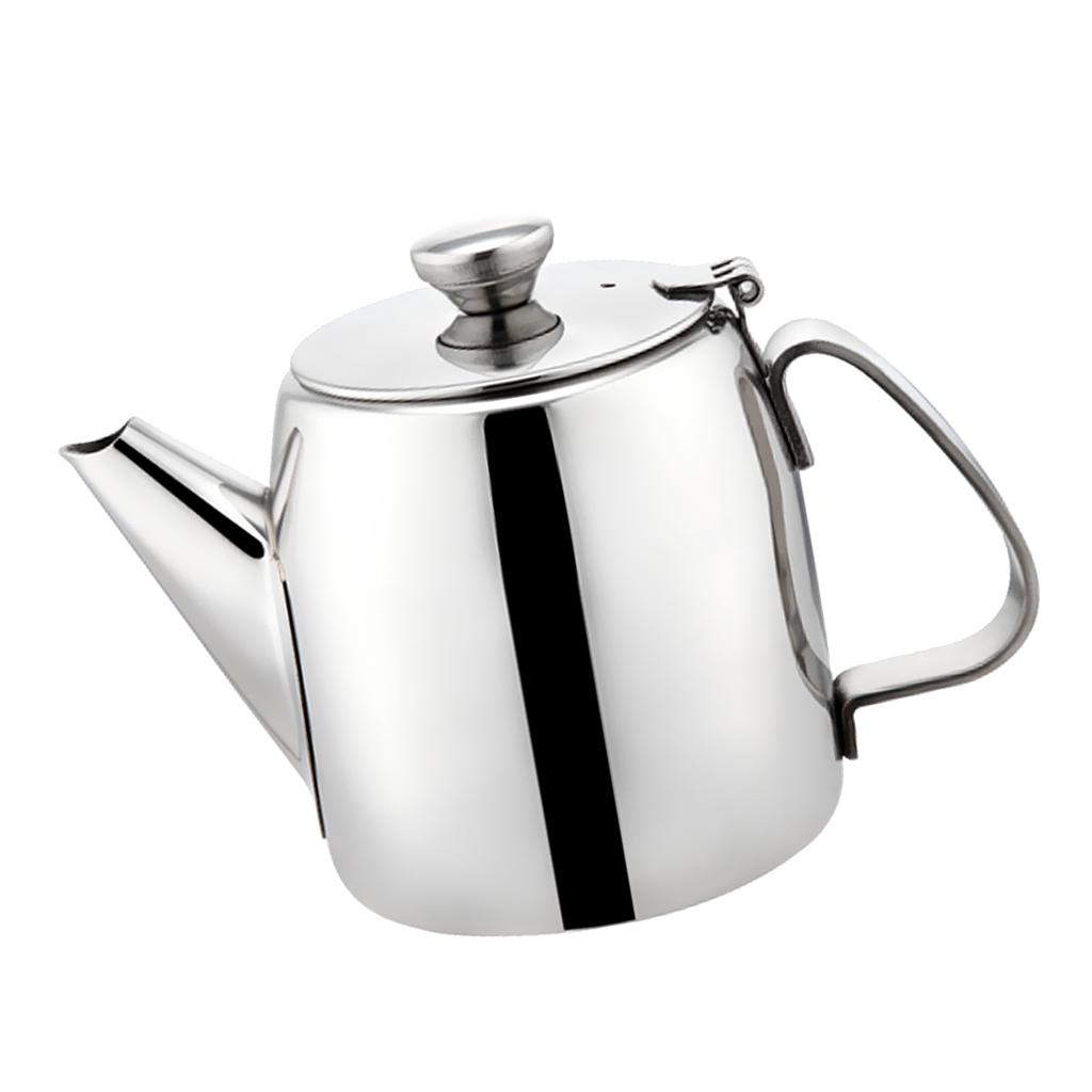 Stainless Teapot Water Kettle Pitcher Juice Jug Coffee Pot 500ml-2.8L Silver