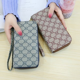 Double zipper wallet new female men's Japanese and Korean version of the tide personality long paragraph multi-function