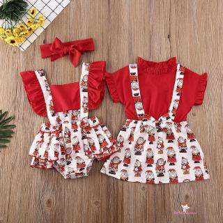 XZQ-Baby Christmas Dress Newborn Baby Kid Girl Dress Matching Clothes Romper
