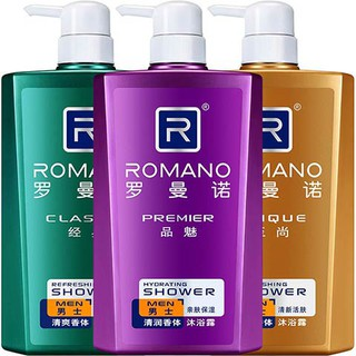 Shower Gel№Romano perfume shower gel men's body genuine cologne bath liquid long-lasting fragrance male family dress