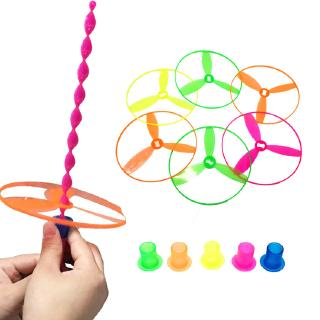 【Free Post】Kindergarten Birthday Present Kids Toys Game Aircraft Small Flying Disk Flying Gyro Flying Saucer Hand Push