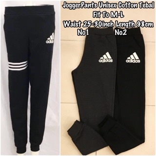 Adidas Jogger pants unisex cotton tebal