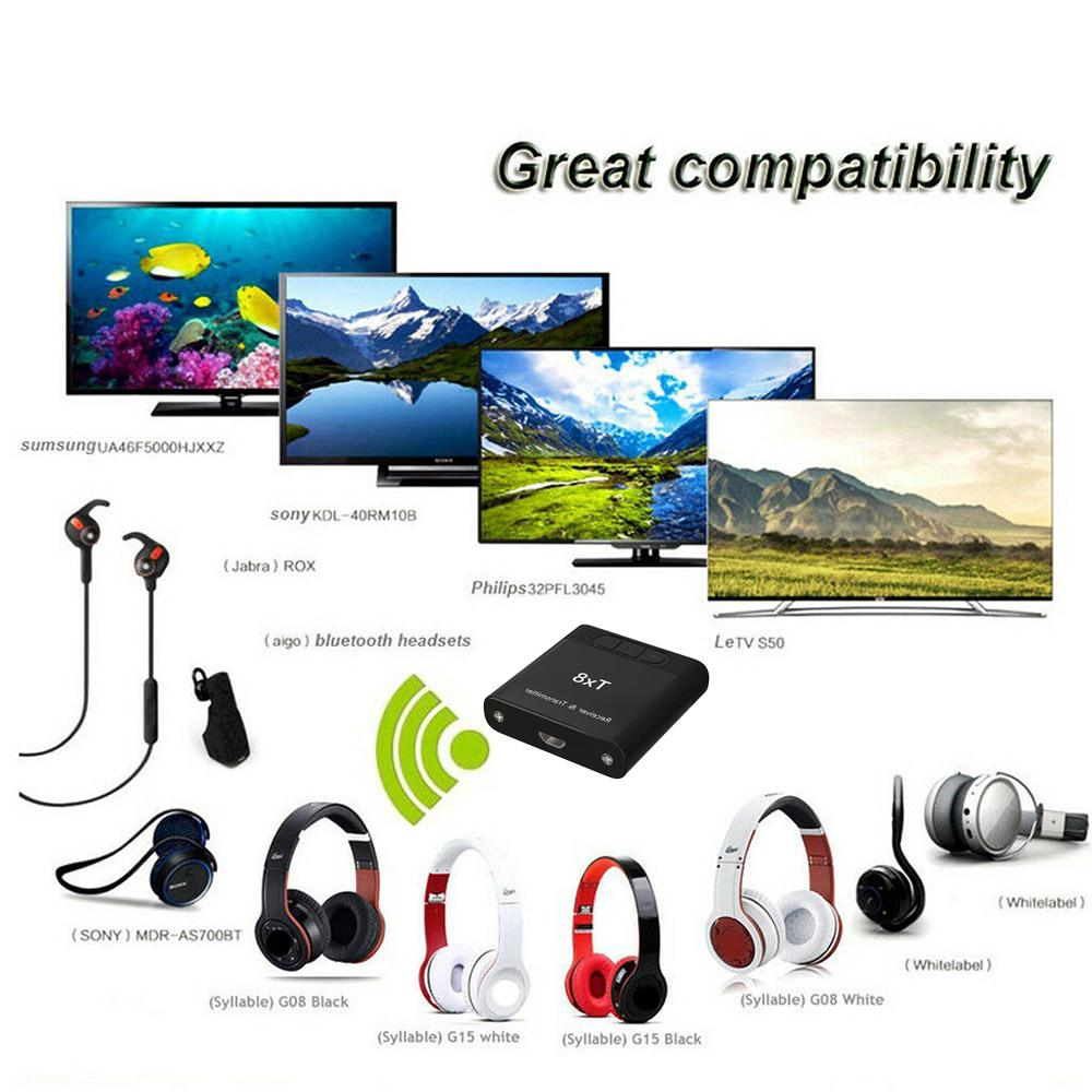 2in1 TX8 Bluetooth Transmitter Wireless Bluetooth Audio Adapter RCA 3.5mm for TV/Headphone/PC/Laptop/Tablet/MP3/MP4