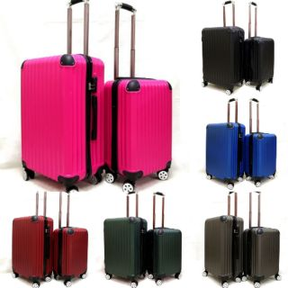 P2 2in1 travel luggage 20inch + 24inch abs material suitcase