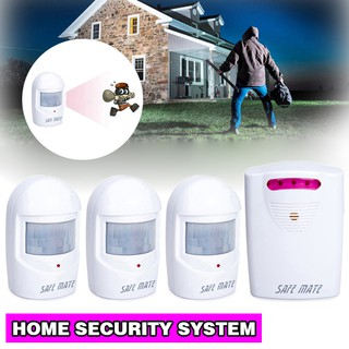 Battery-operated  Wireless Home Security Motion Sensor Detector Alarm