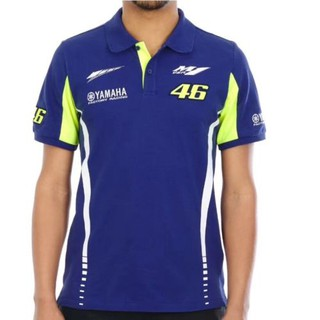 For MOTOR GP Yamaha VR46 Team Race Wear Polo Man's shirt Motorcycle 2018 Blue