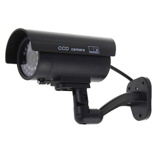 Pretending Counterfeit CCTV Camera Cam Imitation Red LED Waterproof Indoor / Out