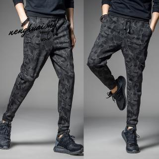Plus Size M-5XL Fashion Men's Gasp Workout Bodybuilding Clothing Casual Camouflage Pant