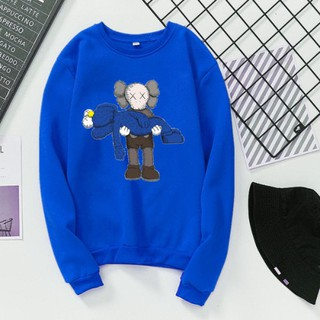 Swin Ready StockKAWS Sesame Street Women Autumn Winter Couple Round Collar Sweater