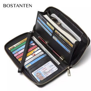 [CNY 2020] BOSTANTEN Women Wallet Wristlet Leather Ladies Long Bifold Clutch Checkbook Cred
