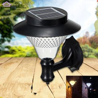 16LED Outdoor Solar-Powered Wall Lamp Yard Fence Stair Street Light Decoration