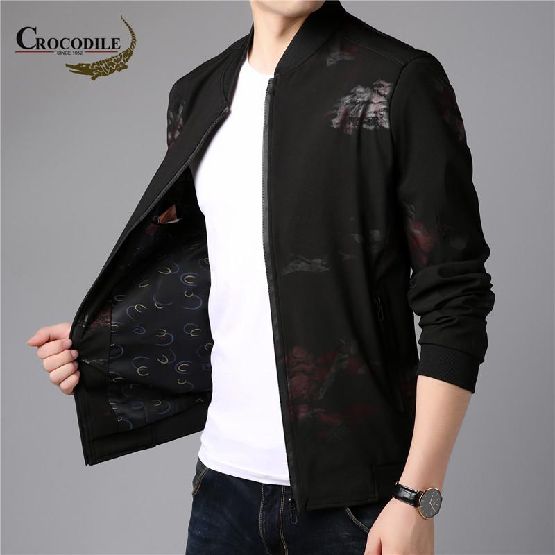 Men's Fashion Printed Jacket Personality Trend Coat