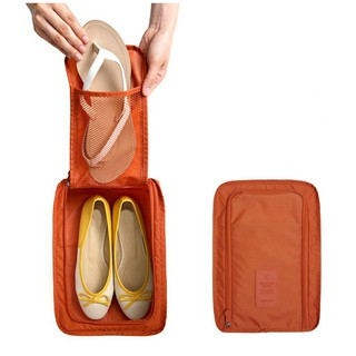 Portable Shoes Bag Travel Tote Bags Nylon Foldable Pouch Waterproof Storage Shoe Organizer
