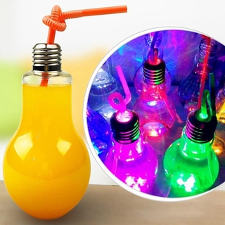 Luminous Lamp Beverage Bottle Milk Bulb Bottle 500ml Juice Tea Without Straw