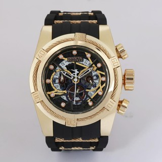 Current high quality hot sale invicta large dial steel belt full-featured quartz