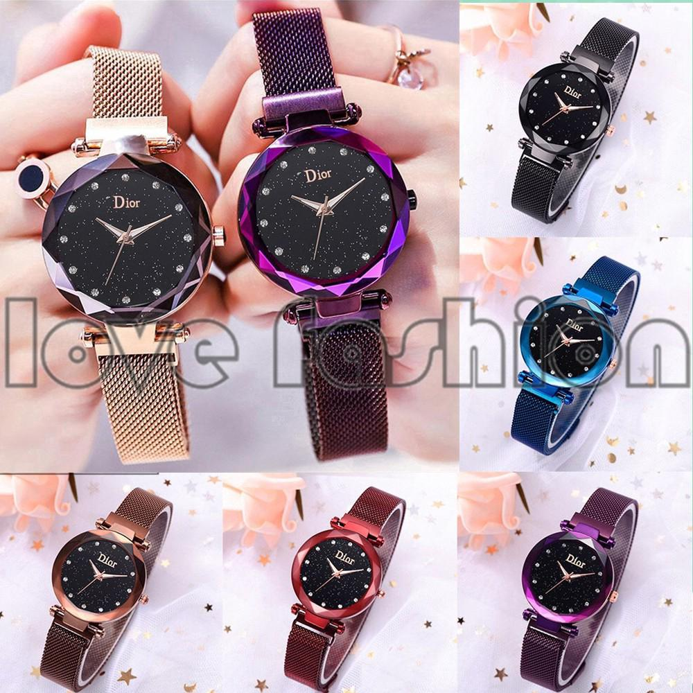 Ready Stock Star Starry Women Magnet Buckle Strap Watch V459