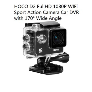 HOCO D2 Full HD 1080P 12M WIFI Sport Action Camera Car DVR with 170° Wide Angle