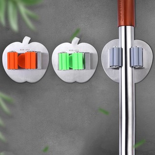 Organizers Stainless Steel Mop Broom Holder Wall Mounted Mop Organizer Storage Rack Clip