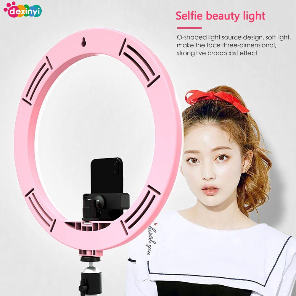 "DEღ 12""160 led ring light fill light mobile phone live light dimmable 5500K"