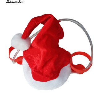 Christmas Santa Claus Cheers Drinking Hat Holds 2 Beverages Holiday