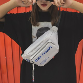 Ghost Horse Girl 霹雳 Sports 蹦 斜 diagonal cross-body bag 2018 new trend fashion printing men and women pockets