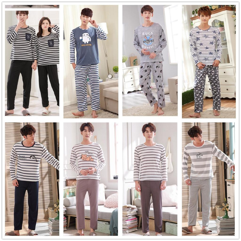 【ready stock】Boy Pyjamas Sleepwear Long Sleeved Men's Pajamas Set