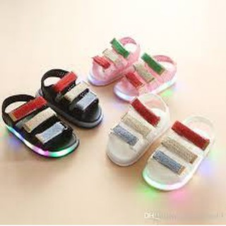 Children Baby Shoes Net Breathable Toddler LED Shoes Sandal