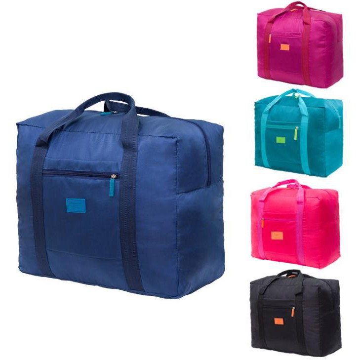 Ready Stock Travel Luggage Nylon Foldable Bag Pouch Organizer L